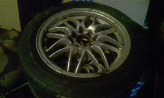 Set of 15inch rims with tyres