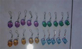 Colourful keyrings