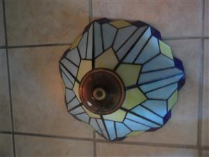 Genuine stained lead glass lamp shade for sale