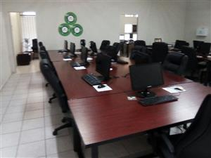 20 seater call centre desks. Chairs. Pcs and much  more