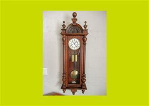 Victorian Mahogany Vienna Clock - SKU 128