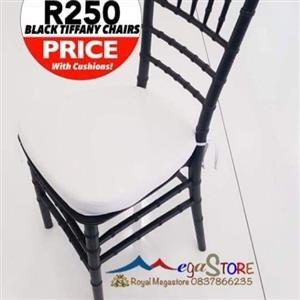 Black Tiffany Chairs R245 each