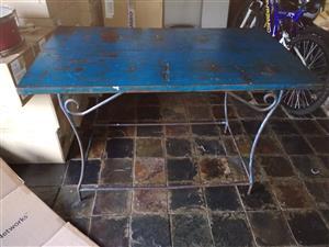 Vintage Solid Steel Table