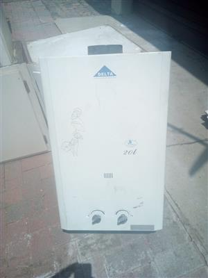 20 litres delta gas geyser for sale brand new