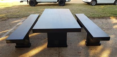 Large table and x2 benches
