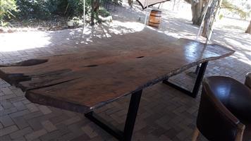 Solid Wood Slab Table