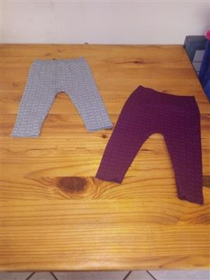 Grey and maroon winter pants for sale