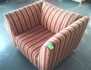Brown stripe single seat couch