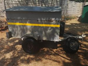 Custom build closed/open galvanized trailer
