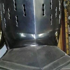 Steel midevil armor helmet