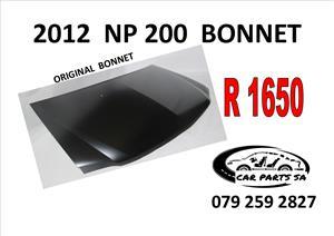 2012 NISSAN NP 200  ORIGINAL BONNET  R1650