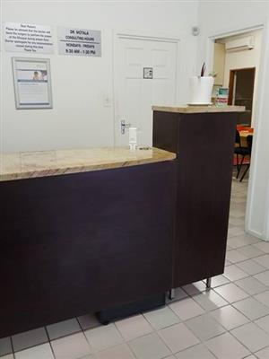 Wooden reception counter for sale