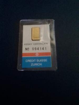 Credit Suisse 1 gram Gold Bar