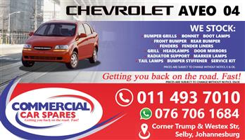 Chevrolet Aveo 2004 Parts and spares for sale