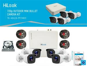 HiLook - Hikvision 4ch 8ch 16ch Turbo HD kit Complete + Installations