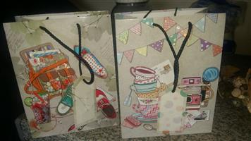 Gift bags with tags