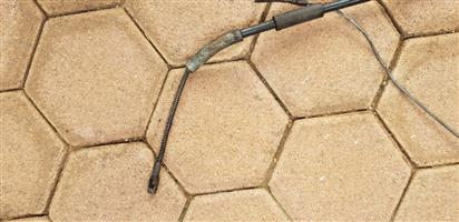 Intake manifold / Handbrake cable