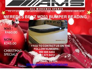 CHRISTMAS SPECIALS !!! W203 BUMPER BEADING FOR SALE