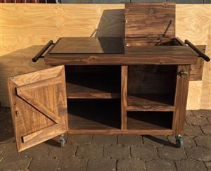 Drinks Trolley Farmhouse Executive series 1200 - Stained