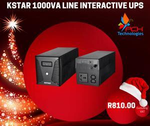 CHRISTMAS KSTAR 1000VA LINE INTERACTIVE UPS W/USB SPECIAL