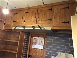 Study Cupboards and Bookshelves Farmhouse series - Stained