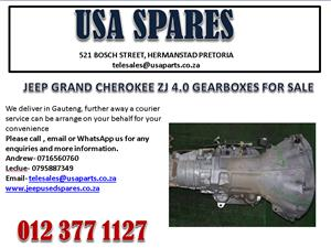 JEEP GRAND CHEROKEE ZJ 4.0 GEARBOX FOR SALE