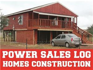 Construction of log homes and wendy house for all types of wood