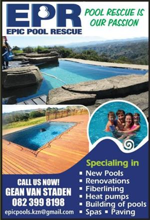 Swimming pools building and renovations