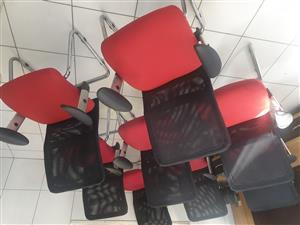 Black & Red Office Chairs