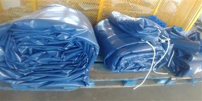9m x 9m and 16m x 9m heavy duty truck tarpaulins/pvc covers