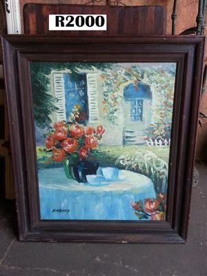 Original Xavier Rabous Oil Painting (660x 765)