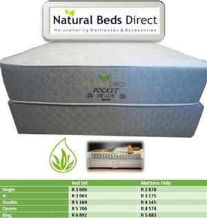 POCKET DE LUX TURNABLE DOUBLE BED MATTRESSES & BED SETS