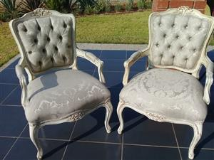 His & Hers Chairs For Hire Set