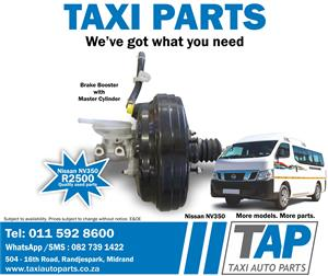 Nissan NV350 BRAKE BOOSTER with MASTER CYLINDER quality used taxi spares - Taxi Auto Parts TAP