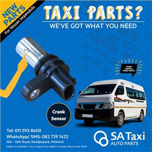 NEW CRANK SENSOR suitable for Nissan NV350 Impendulo - SA Taxi Auto Parts quality spares