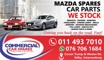 New Mazda Body Parts And Spares For Sale At Car Spares