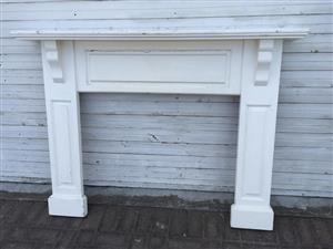 Classical Styled Oregon wood Fireplace surround - great for a renovation project!
