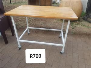Table on wheels for sale