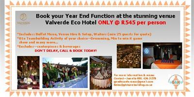Year End Function at Valverde Eco Hotel & G&H
