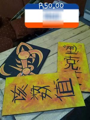 Chinese yellow decor signs