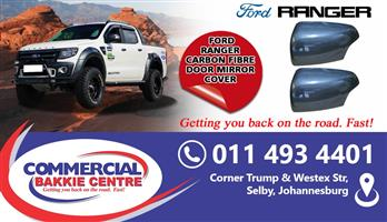 ford ranger mirror covers carbon fibre 2012-