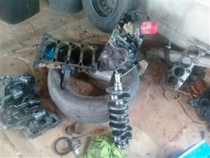 Stripping engine parts for sale