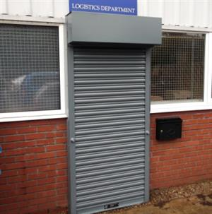 Roller Shutter Door Galvanised Steel mild steel gear operated roller shutter door As NEW