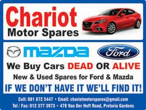 Mazda Spares Available at Chariot Motor Spares