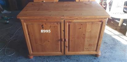 Classic Oregon Pine Office Cabinet (1195x630x750)