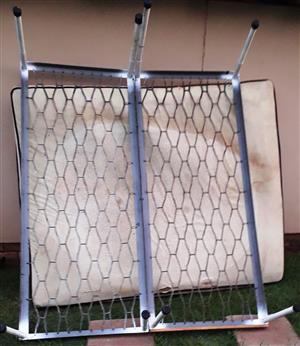 2 single iron beds combined to one with screws, Pta North, 08 222 14 555