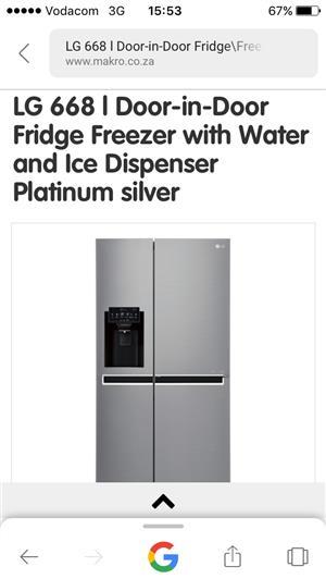 Lg door in door fridge for sale