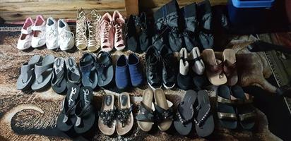 Various ladies shoes and sandals for sale