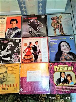 CLASSICAL OPERA ALBUMS ON LONG PLAY RECORDS