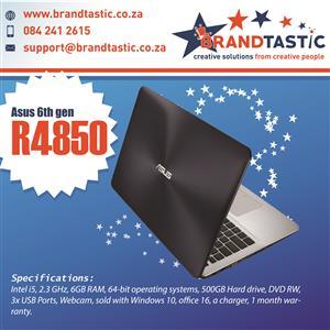 Blazing-fast 6th-Gen Asus i5 Laptop @ R4850
